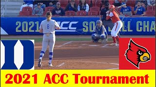 Louisville vs Duke Softball Game Highlights, 2021 ACC Tournament Quarterfinal