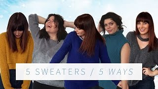 DIY SWEATER UPCYCLE 5 WAYS | THE SORRY GIRLS