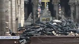 First Look Inside Notre Dame Cathedral After Devastating Fire