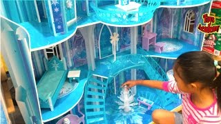 Disney Frozen Snowflake Mansion Toys Hunting At Costco   Toys Academy