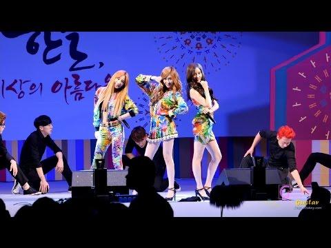 141008 [직캠/FANCAM] 소녀시대 태티서 (SNSD TTS, TaeTiSeo ) 온리 유 (Only U) & 할라 (Holler) @ 이소라의 가요광장