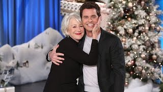 James Marsden Shares a Smooch With His Celebrity Crush Helen Mirren