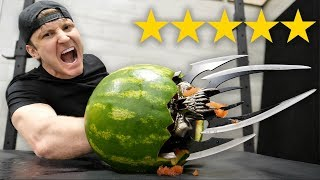 I Bought The BEST and WORST Rated WEAPONS On Amazon!! (5 STAR vs 1 STAR)