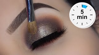 EASY 5 Minute Smokey Eyes Tutorial