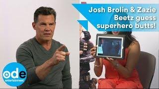 DEADPOOL 2: Josh Brolin & Zazie Beetz guess superhero butts and reveal Deadpool 3!
