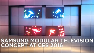 Samsung Modular Television Concept at CES 2016
