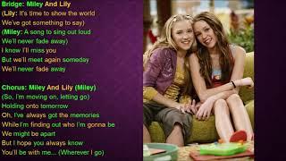 Wherever I Go Episode Version Hannah Montana Lyrics