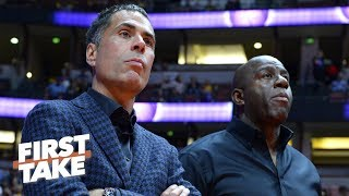 Magic Johnson's leadership style clashed with Rob Pelinka - Baxter Holmes | First Take