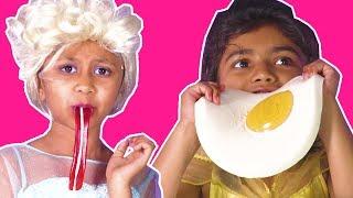 GUMMY FOOD VS REAL FOOD | Princess Has A Magic Machine To Make Gummys! | Princesses In Real Life