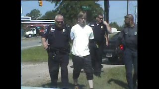 RAW: Arrest of Charleston shooter Dylann Roof caught on dashcam