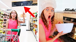 ONLY USING ITEMS FROM ONE AISLE TO COOK Challenge *Best Gourmet Meal Wins iPhone 11 Pro Max*