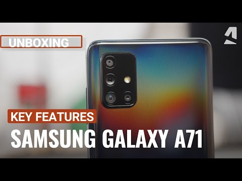 video Original Samsung Galaxy A71 5G Smart Phone A7160 8GB RAM 128GB Dual Sim  4500mAh 5G Mobile Phones