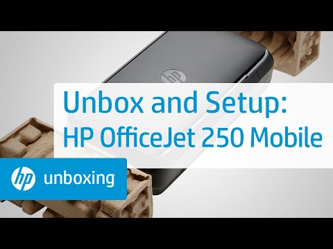 video HP OfficeJet 250 All-in-One Portable Printer with Wireless & Mobile Printing