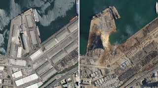 Satellite images show scale of Beirut blast
