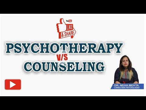 Psychotherapy v/s Counseling | Importance of Psychotherapies & Counselling in Hindi | Dr. Neha Mehta