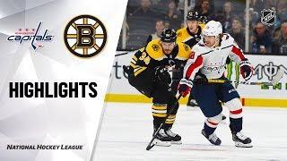 NHL Highlights | Capitals @ Bruins 11/16/19