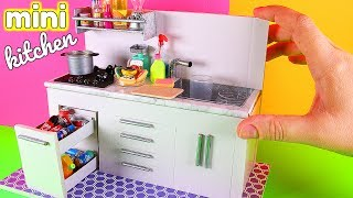 DIY Miniature Kitchen + Blender, Cooking Oil, and more