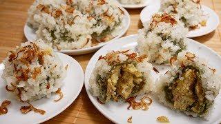 Xôi Khúc / Xôi Cúc / Bánh Khúc - Cách nấu Xôi Khúc thơm ngon dẻo mềm nơi xa Xứ by Vanh Khuyen