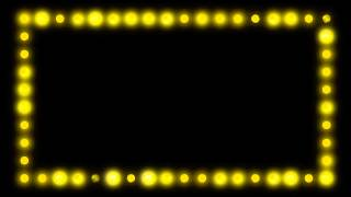 Marquee Border Lights - HD Video Background Loop