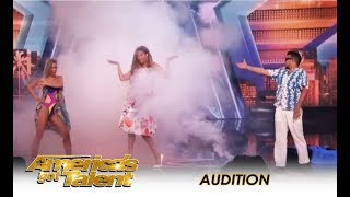 Magic Couple Who BROKE UP Perform Quick Change Act On Tyra Banks | America's Got Talent 2018
