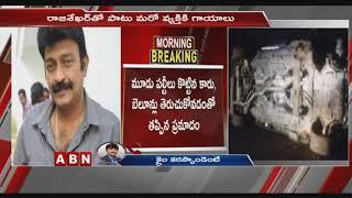 Hero Rajasekhar survives after car overturns on ORR at Sha..