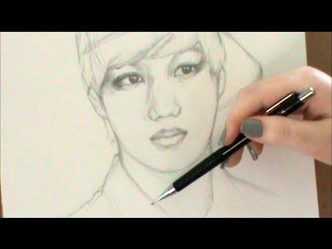EXO-K - Kai {Drawing Tutorial!!}