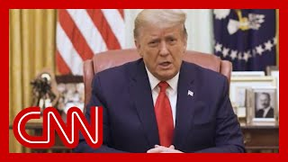 Trump releases video after being impeached again
