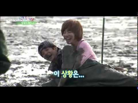 111119 SNSD Sunny VS F(x) Amber Mud Race @ Invincible Youth 2 Ep 2 cut