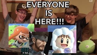 LIVE REACTION SUPER SMASH BROS ULTIMATE EVERYONE IS HERE AND SUBTITLE