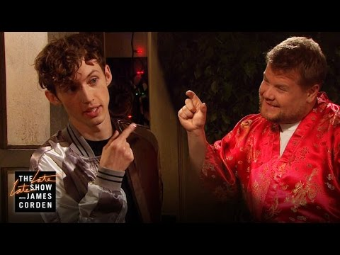 James Corden Crashes Troye Sivan's House Party