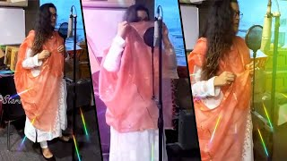 Renu Desai enjoys dubbing for Telugu TV comeback show..