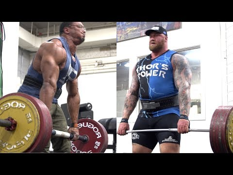 LARRY AND THE WORLDS STRONGEST MAN DEADLIFT!