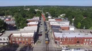 CSX Street Running in La Grange, Kentucky (drone video)
