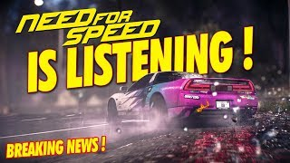 BREAKING NEWS!! NEED FOR SPEED IS LISTENING! ( NFS 2019 )