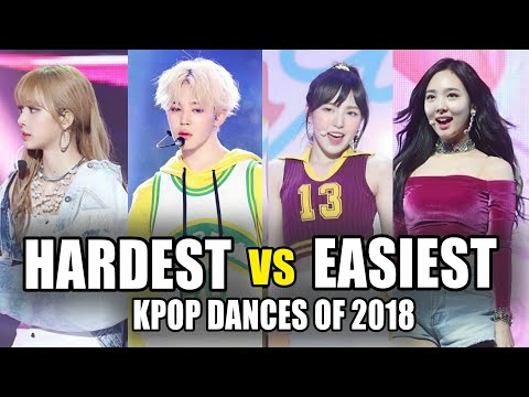 EASIEST VS HARDEST KPOP DANCES OF 2018
