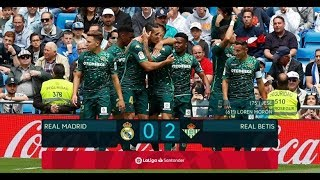 Real Madrid vs Real Betis 0-2 Highlights 2019