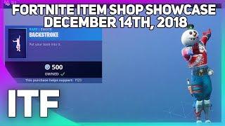Fortnite Item Shop *NEW* BACKSTROKE EMOTE! [December 14th, 2018] (Fortnite Battle Royale)