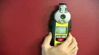 How to Use a Laser Line Level & Stud Finder Tool : How to Detect Wood Studs with a Laser Line Level & Stud Finder