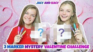 3 Marker Mystery Valentine Challenge ~ Jacy and Kacy