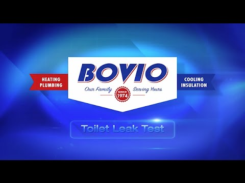 The Toilet Leak Test | Bovio Heating Plumbing Cooling Insulation