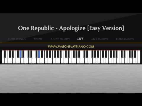 Baixar One Republic - Apologize [Easy Piano Tutorial]