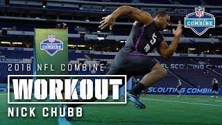 Nick Chubb's 2018 NFL Combine Workout