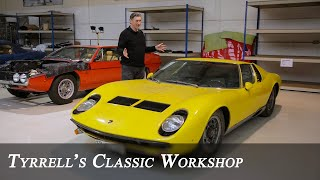 Lamborghini Miura S & Ferrari 365 GT 2+2 | Welcome to Tyrrell's Classic Workshop