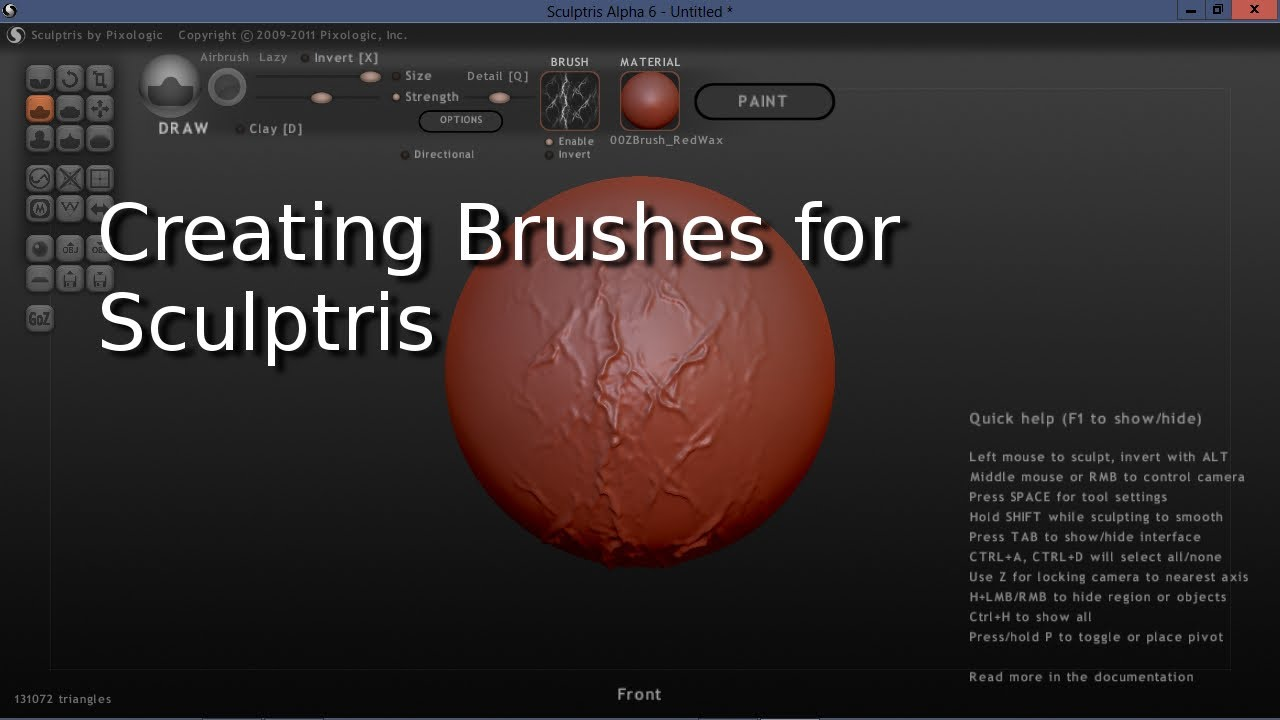 How To Create Brushes For Sculptris Youtube