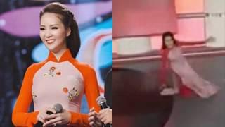 ✅Á hậu Thụy Vân vấp ngã trên sóng trực tiếp |TIN TỨC 24H TV|