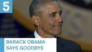 Barack Obama sheds tears as he says goodbye to White House | 5 News