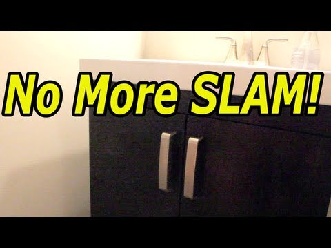 How To Make Any Cabinet Door A Soft Close Door Youtube