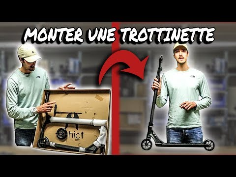 Video ETHIC Trottinette freestyle ARTEFACT V2 bleu