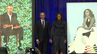 Les portraits de Michelle et Barack Obama entrent au musée