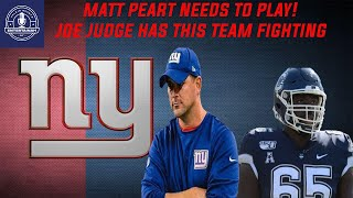 New York Giants | Matt Peart needs to start | Joe Judge has this team going in the right direction